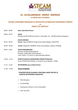 15. Uluslararası Enerji Konferansı