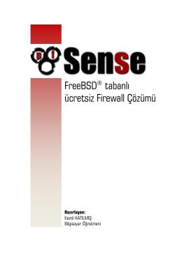 FreeBSD® tabanlı ücretsiz Firewall Çözümü