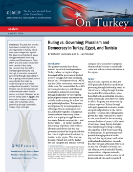 Ruling vs. Governing: Pluralism and Democracy in Turkey