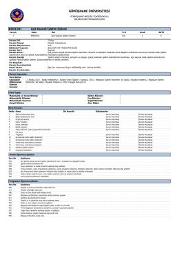 BISEC201 Açık Kaynak İşletim Sistemi