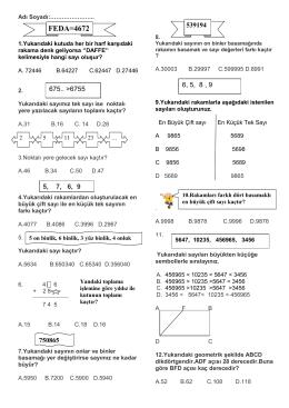 doğal sayılar testi - izzethekin.fevziozbey.k12.tr