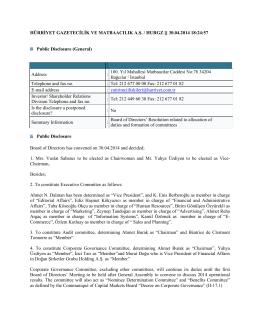 30.04.2014 18:24:57 Public Disclosure (General)