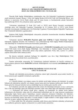 2014/5. Ek Yerleştirme İşlemleri, Usul ve Esasları