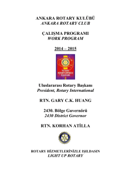 İndir (PDF, 663KB) - Ankara Rotary Kulübü