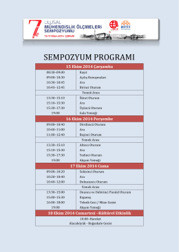 sempozyum programı