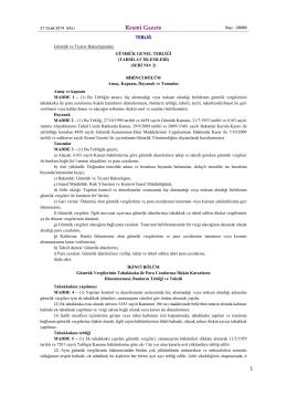 Resmî Gazete - Gümrük ve Ticaret Bakanlığı Risk Yönetimi ve