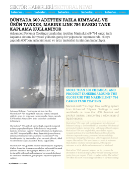 MarineLine® hakkında (PDF) - Advanced Polymer Coatings