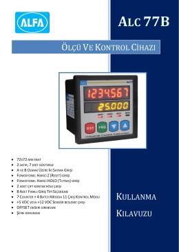 ALC77 - ATEK Elektronik Sensör Teknolojileri