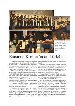 Erasmus Korosundan Türküler