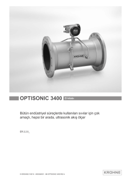 OPTISONIC 3400 El kitabı