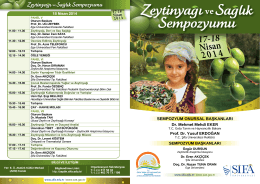 17-18 Nisan - Zeytinyağı ve Sağlık Sempozyumu