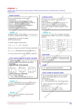 Kümeler 1.Bölüm - 11.sınıf mat çözüm videoları