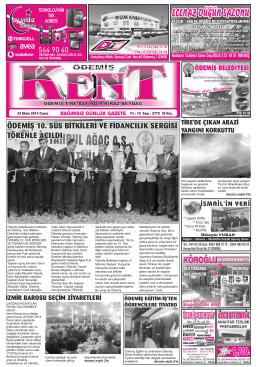 24-10-2014 Tarihli Kent Gazetesi