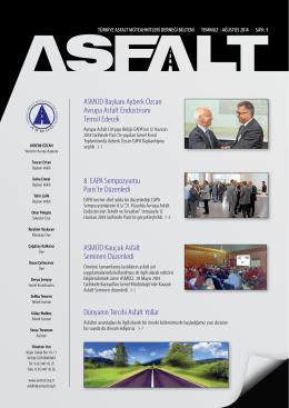 ASMÜD Başkanı Ayberk Özcan Avrupa Asfalt Endüstrisini Temsil