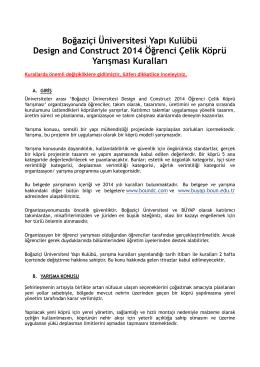 Boğaziçi Üniversitesi Yapı Kulübü Design and Construct 2014