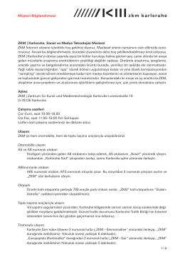 ZKM | Karlsruhe, Sanat ve Medya Teknolojisi Merkezi ZKM İnternet