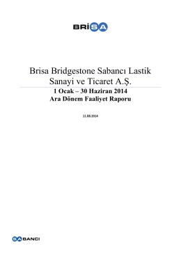 Brisa Bridgestone Sabancı Lastik Sanayi ve Ticaret A.Ş.
