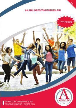 Tatil Rehberi - Ocak 2014 - Anabilim Eğitim Kurumları