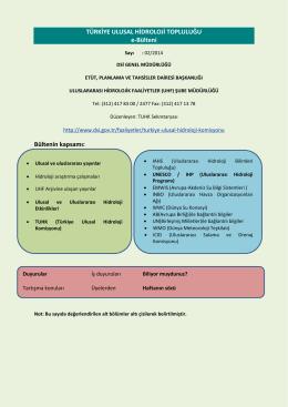 Şubat 2014 Hidroloji Bülteni - Devlet Su İşleri Genel Müdürlüğü