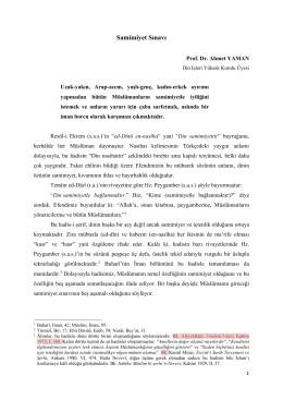 Prof. Dr. Ahmet Yaman - Samimiyet Sınavı