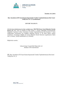 2014-76 Bazı Alacakların 6552 Sayılı Kanun