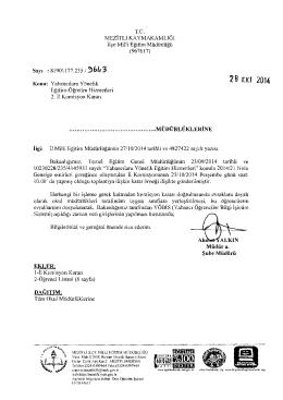 2 B EKı 2014 - mersin - mezitli ilçe millî eğitim müdürlüğü