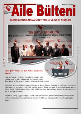 Ağustos 2014 - Aile ve Sosyal Politikalar Bakanlığı