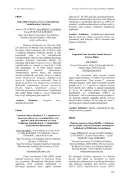Fragaria vesca L. - Biyoloji Kongreleri