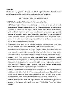 OCR Document - MEF Okulları
