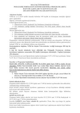 selçuk üniversitesi pedagojik formasyon eğitimi sertifika