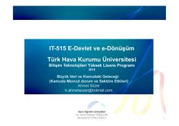 IT-515 E-Devlet ve e-Dönüşüm Türk Hava Kurumu