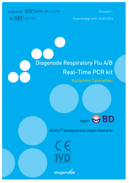 Real-Time PCR kit - Diagenode Diagnostics