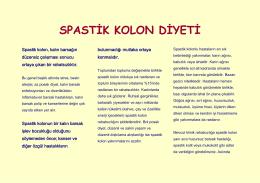 SPASTİK KOLON DİYETİ - Prof. Dr. Zafer Malazgirt