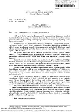 Boş Kadrolara Vekalet Ücreti - Çevre ve Şehircilik Bakanlığı