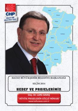 hedef ve projelerimiz - Doç Dr. Lütfü Savaş Resmi Sitesi