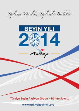 Türkiye Beyin Aksiyon Grubu – Bülten Sayı: 1
