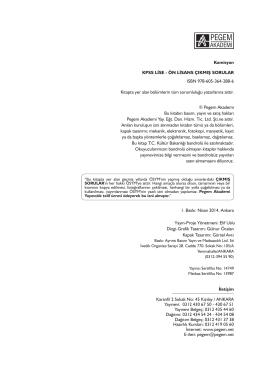 Komisyon KPSS LİSE - ÖN LİSANS ÇIKMIŞ SORULAR
