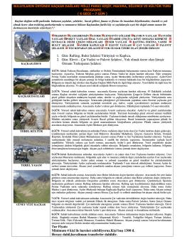 1. Gün: Rafting, Bulut Şelalesi Yürüyüşü ve Kaplıca, 2