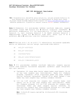 AKT 305 Aktüeryal Yazılımlar ÖDEV 2