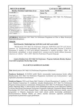10.10.2014-_49_ 2015 Mali Yılı Performans Prog. ait Plan ve Bütçe