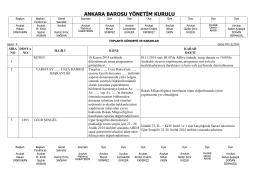 07 kasım 2014 tarihinde yapılan yönetim kurulu