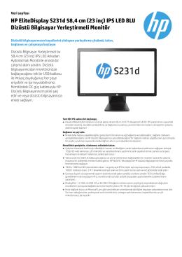 HP EliteDisplay S231d 58,4 cm (23 inç) IPS LED BLU Dizüstü