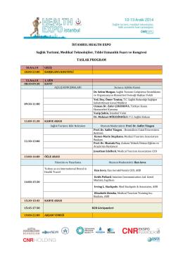 İSTANBUL HEALTH EXPO Sağlık Turizmi