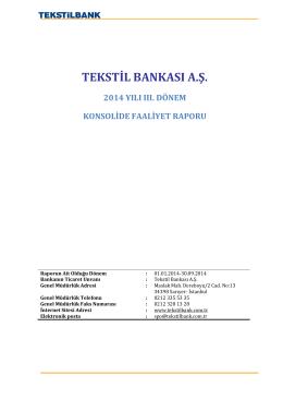 Konsolide - Tekstilbank