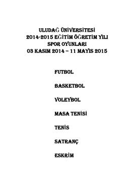 2014-2015 Spor Oyunları