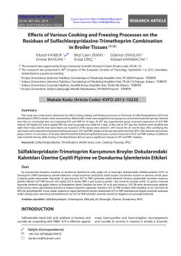 Sülfaklorpridazin-Trimetoprim Karışımının Broyler Dokularındaki