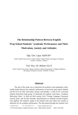 The Relationship Pattern Between English Prep School Students
