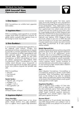 KEIM Concretal®-Base TM Teknik Veri Sayfası