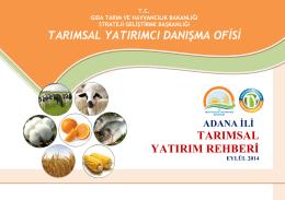 adana - TC Gıda Tarım ve Hayvancılık Bakanlığı