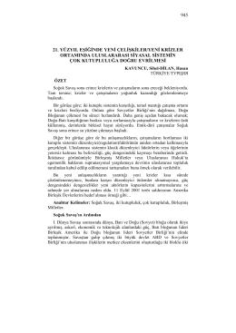 KAVUNCU, Sibel-DİLAN, Hasan-21. YÜZYIL EŞİĞİNDE YENİ